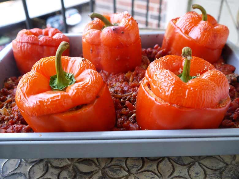 stuffed-peppers-cauliflower-rice-paleo-perchancetocook-3