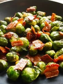 Crispy Maple Bacon Brussels Sprouts (paleo, GF)   Perchance to Cook