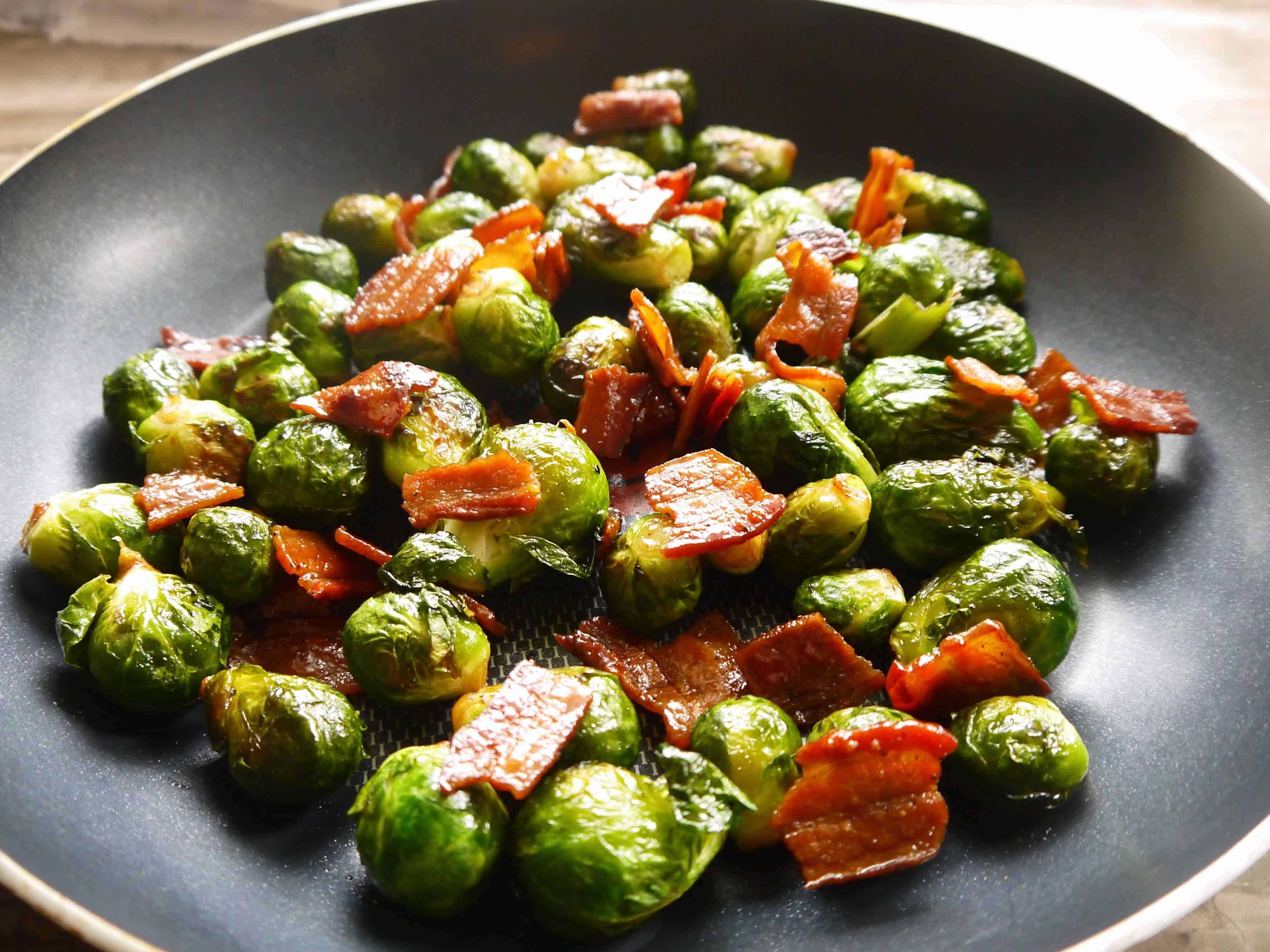 Crispy Maple Bacon Brussels Sprouts (paleo, Gf)