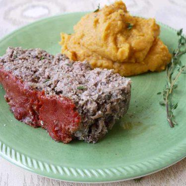 Paleo Mushroom Meatloaf (GF) | Perchance to Cook, www.perchancetocook.com