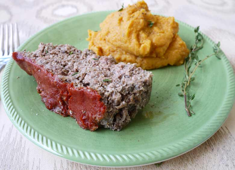Paleo Mushroom Meatloaf (GF) | Perchance to Cook, www.perchancetocook.com