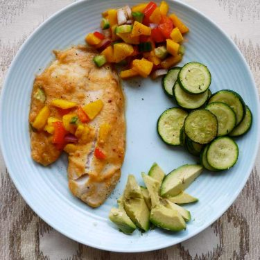Sweet Orange Tilapia with Mango Salsa (Paleo, GF) | Perchance to Cook