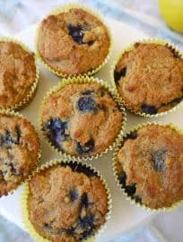 All Seasons Blueberry Muffins (paleo, GF)   Perchance to Cook, www.perchancetocook.com
