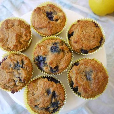 All Seasons Blueberry Muffins (paleo, GF) | Perchance to Cook, www.perchancetocook.com