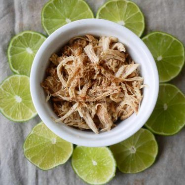 Key Lime Pie Pulled Chicken (paleo, GF, slow cooker) | Perchance to Cook, www.perchancetocook.com