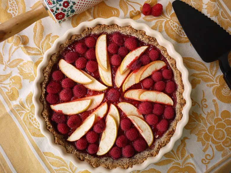 Paleo Berry Apple Tart (naturally gluten-free) | Perchance to Cook