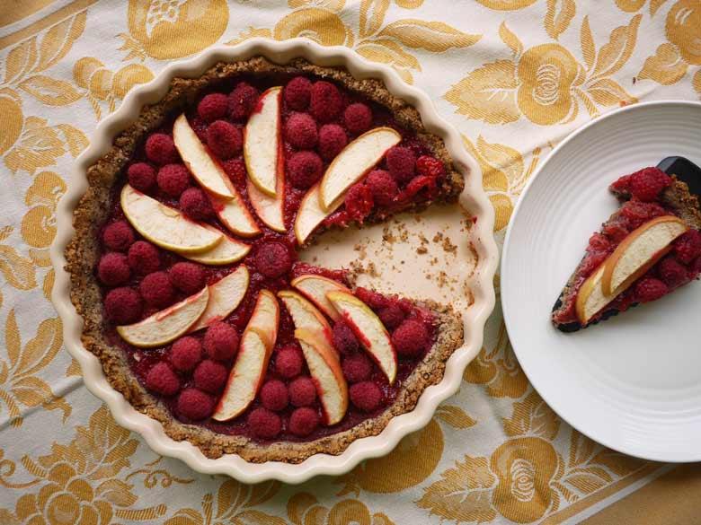 Paleo Berry Apple Tart (naturally gluten-free) | Perchance ...