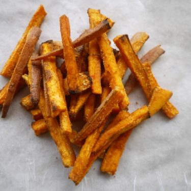 Seasoned Sweet Potato Fries (paleo, GF)