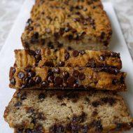 Chocolate Chip Banana Bread (paleo, GF)