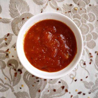 Homemade Mango BBQ Sauce (Paleo, GF)| Perchance to Cook, www.perchancetocook.com
