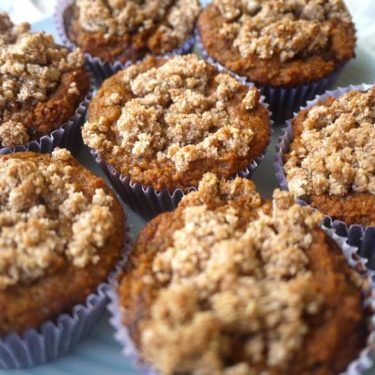 Cinnamon Coffee Cake Crumble Muffins (Paleo, GF) | Perchance to Cook, www.perchancetocook.com