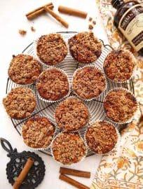 Cinnamon Coffee Cake Crumble Muffins (Paleo, GF)   Perchance to Cook, www.perchancetocook.com