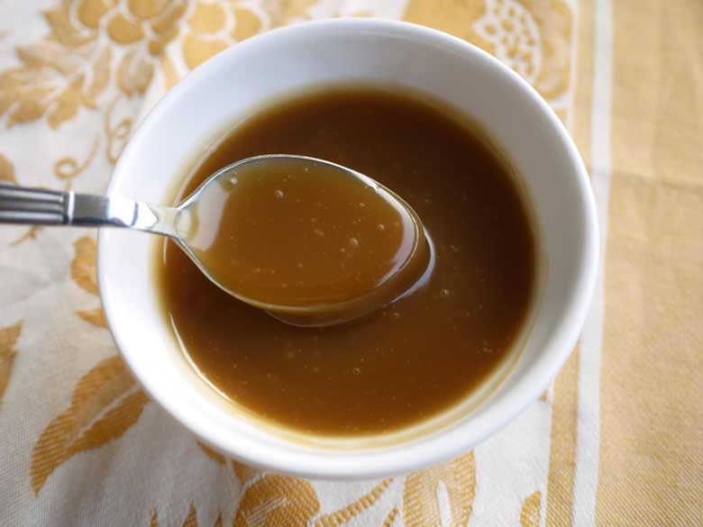 Rich buttery caramel sauce made without butter? Or sugar? And that is ...