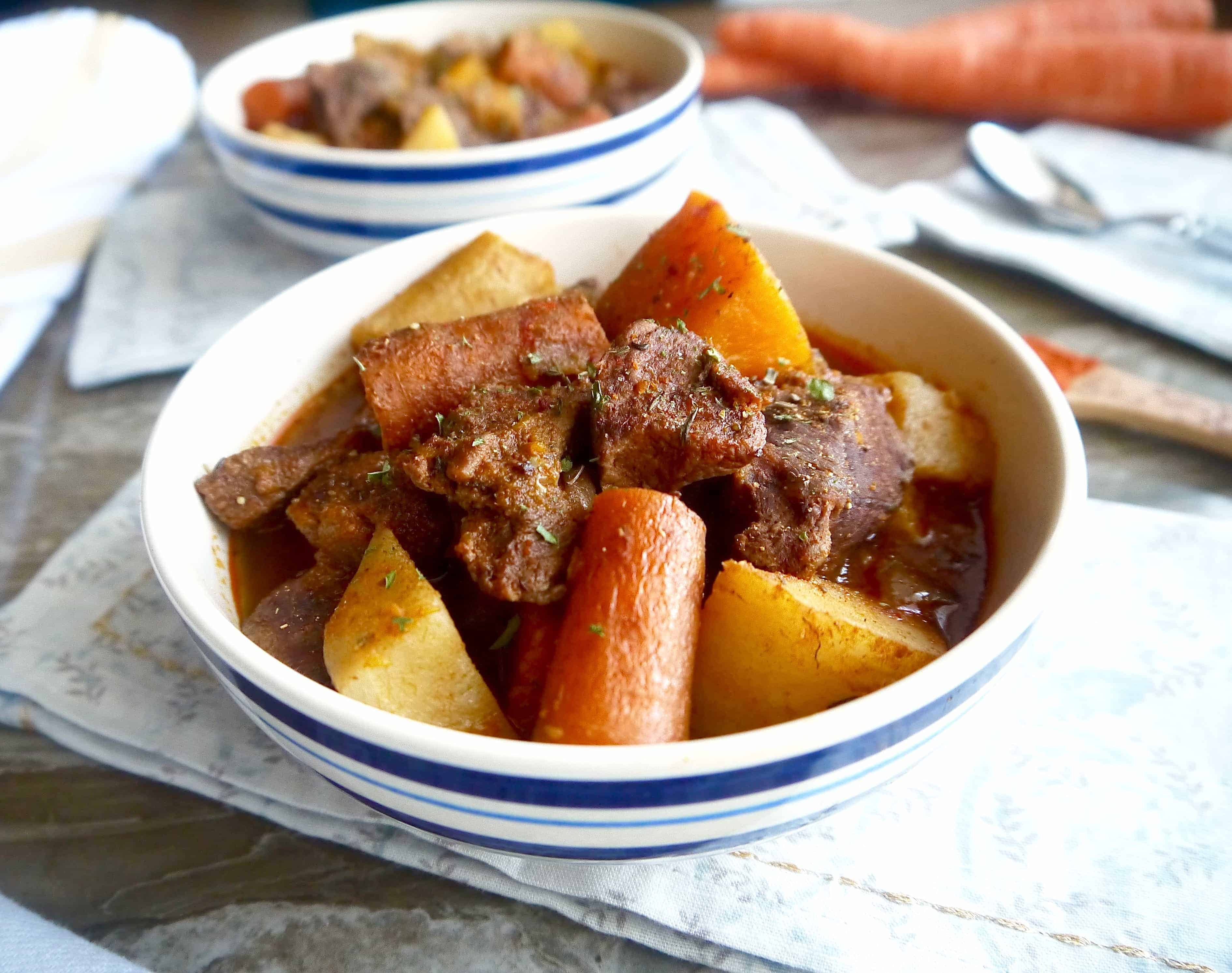 Hearty Hungarian Beef Stew (paleo, GF) |Perchance to Cook, www.perchancetocook.com