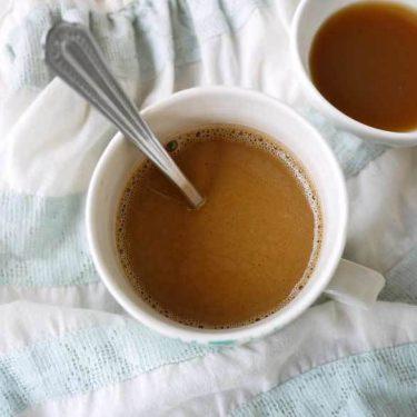 Easy Caramel Caffe Latte (paleo, GF, dairy-free) | Perchance to Cook, www.perchancetocook.com