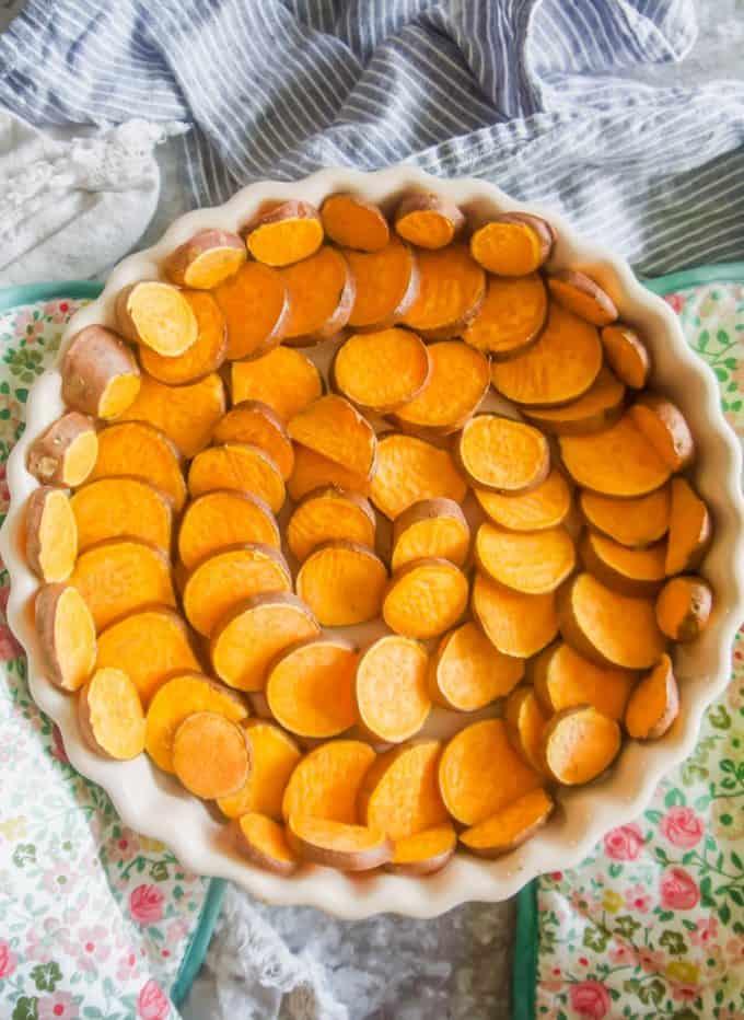 baked sweet potato crust