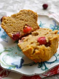 Cranberry Orange Pound Cake Muffins (Paleo, GF)   Perchance to Cook, www.perchancetocook.com