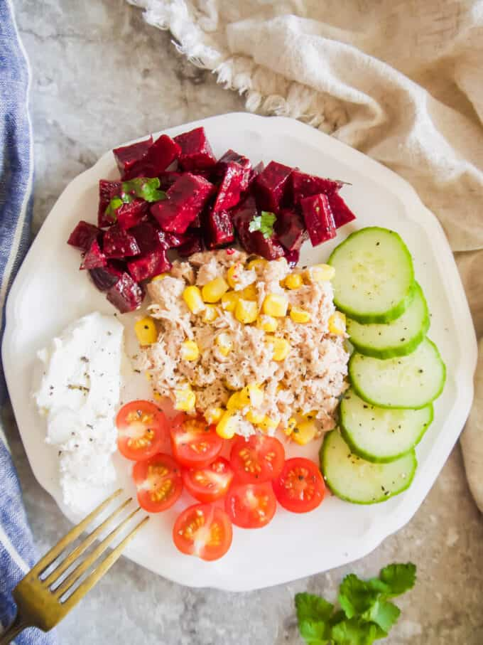 French Beet Salad with Mustard Vinaigrette (Paleo, Dairy-free, Gluten-Free) | Perchance to Cook