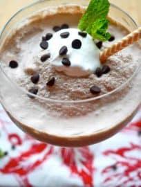 Minty Paleo Frozen Hot Chocolate (GF, dairy-free) | Perchance to Cook, www.perchancetocook.com
