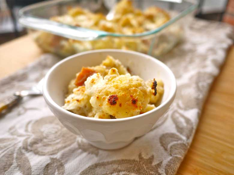 Cauliflower and Bacon Au Gratin (paleo, GF) | Perchance to ...