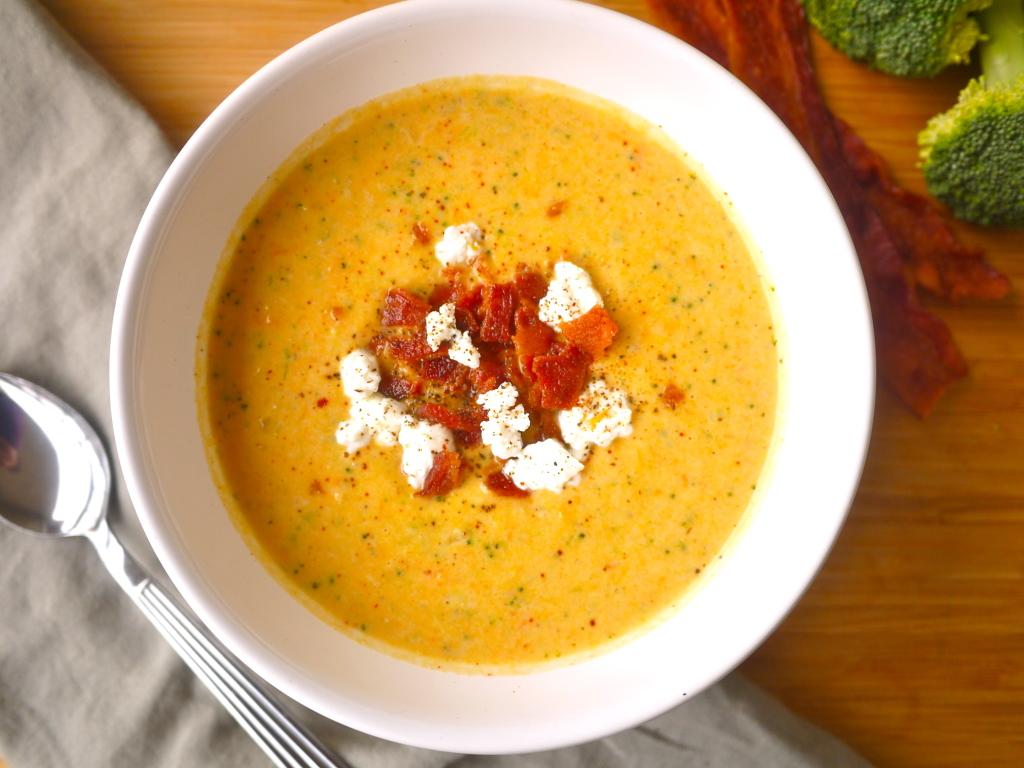 Creamy Sweet Potato and Broccoli Soup (paleo, GF) | Perchance to Cook
