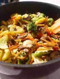 Vegetable Stir Fry Surprise (paleo, GF) | Perchance to Cook, www.perchancetocook.com