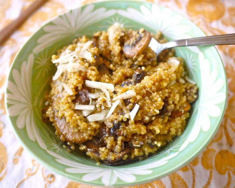 quinoa mushroom 'risotto'