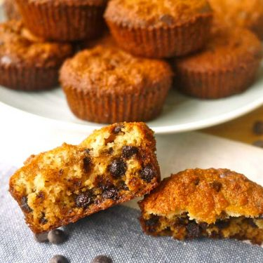 Fluffy Chocolate Chip Muffins (paleo, GF) | Perchance to Cook, www.perchancetocook.com