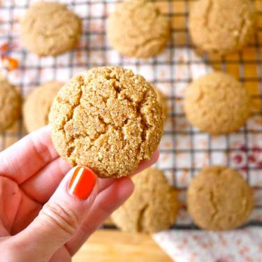 Coconut Flour Ginger Cake Cookies (paleo, GF) | Perchance to Cook, www.perchancetocook.com