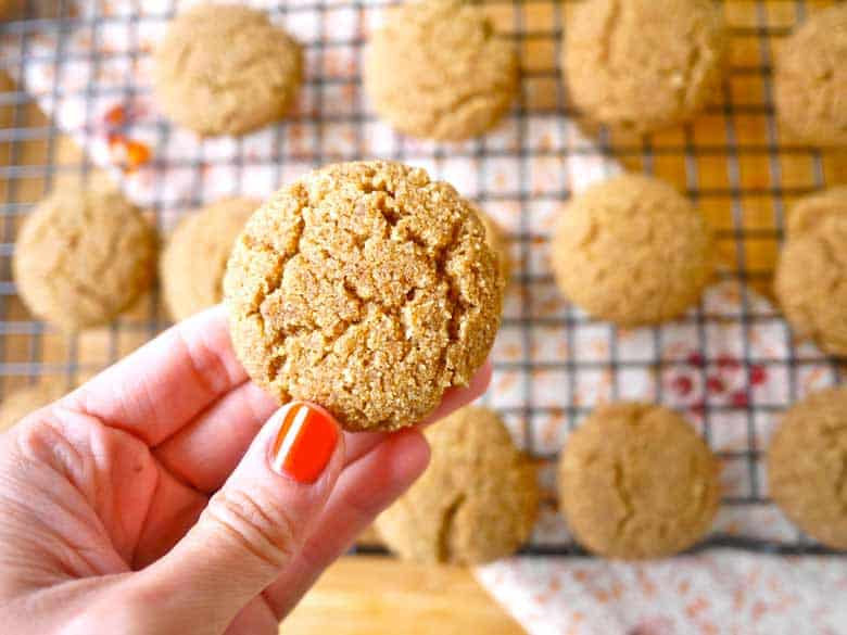 Coconut Flour Ginger Cake Cookies (paleo, GF)   Perchance to Cook, www.perchancetocook.com