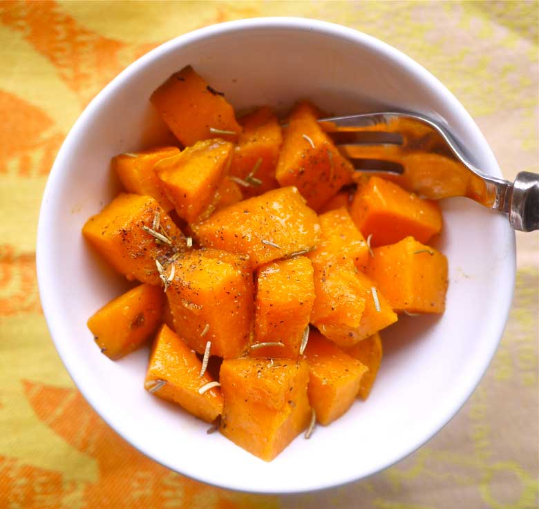 Plain Diced Sweet Potatoes: Simple Candied Rosemary Sweet Potatoes (paleo, GF