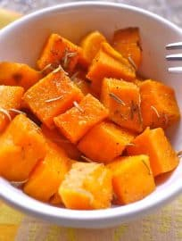 Simple Candied Rosemary Sweet Potatoes (paleo, GF) | Perchance to Cook, www.perchancetocook.com