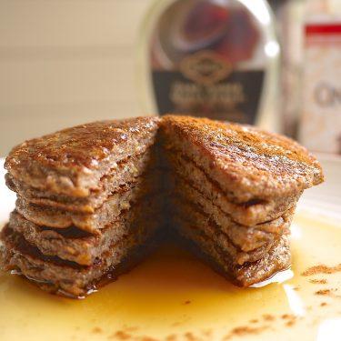 Cinnamon Chia-Flax Protein Pancakes (paleo, GF) | Perchance to Cook, www.perchancetocook.com