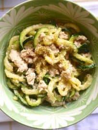 Creamy Garlic and Tuna Zucchini Noodles (paleo, GF) | Perchance to Cook, www.perchancetocook.com