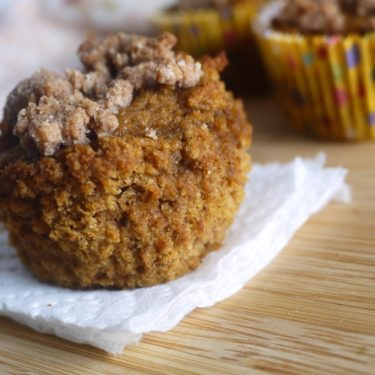 Paleo Pumpkin Streusel Muffins (GF) | Perchance to Cook, www.perchancetocook.com