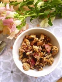 Paleo Strawberry Almond Granola (GF)   Perchance to Cook, www.perchancetocook.com
