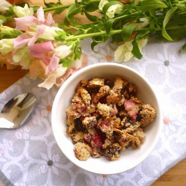 Paleo Strawberry Almond Granola (GF) | Perchance to Cook, www.perchancetocook.com