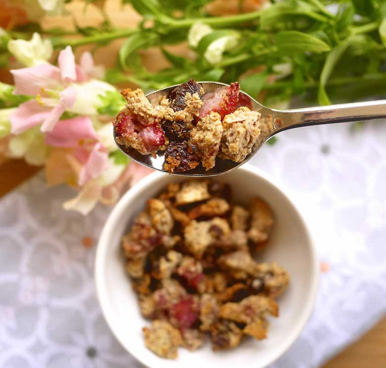 Paleo Strawberry Almond Granola (GF) | Perchance to Cook