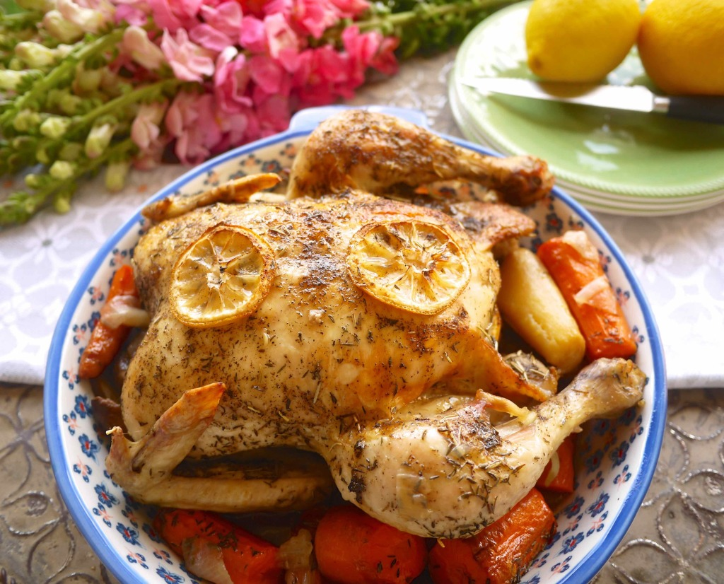 Thyme-Infused-Roasted-Chicken-Root-Veggies-paleo-perchancetocook-4