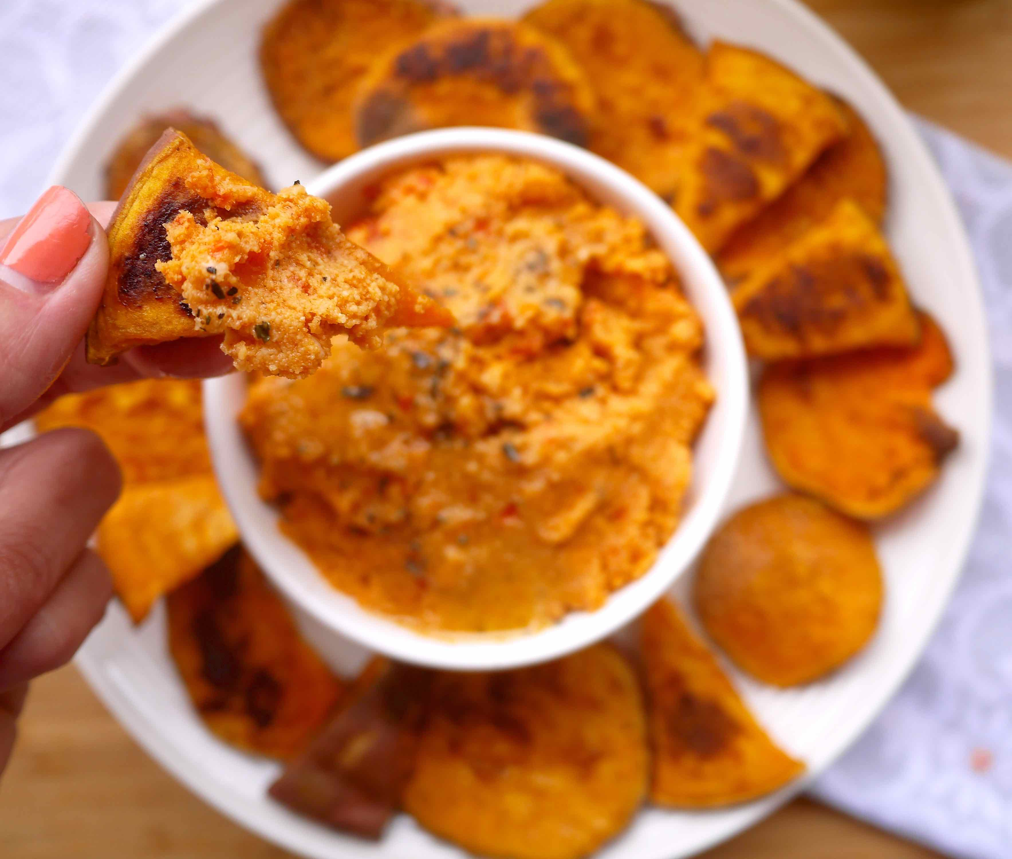Paleo Garlic and Sun-dried Tomato Hummus (GF) | Perchance to Cook, www ...