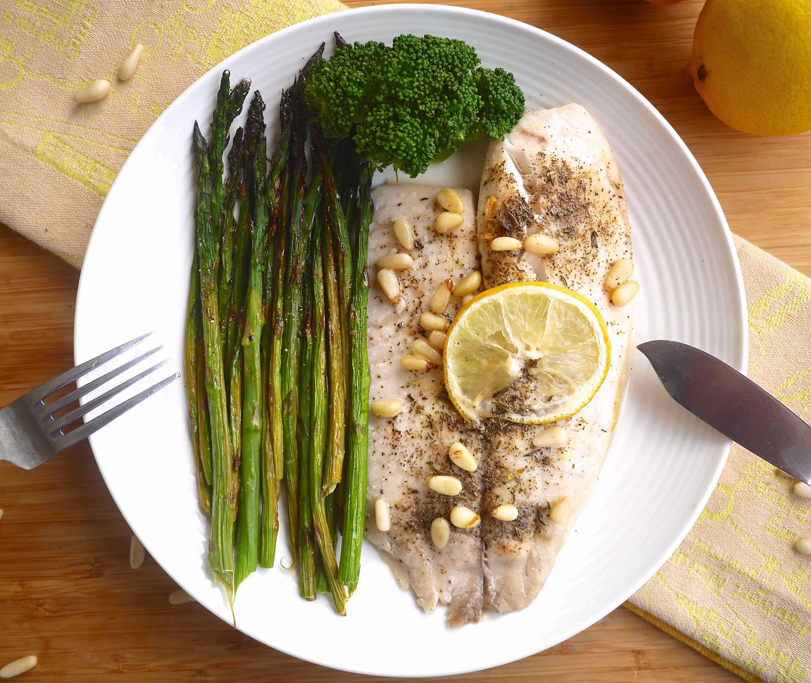 25 Minute Lemon Tilapia And Asparagus (paleo, Gf)