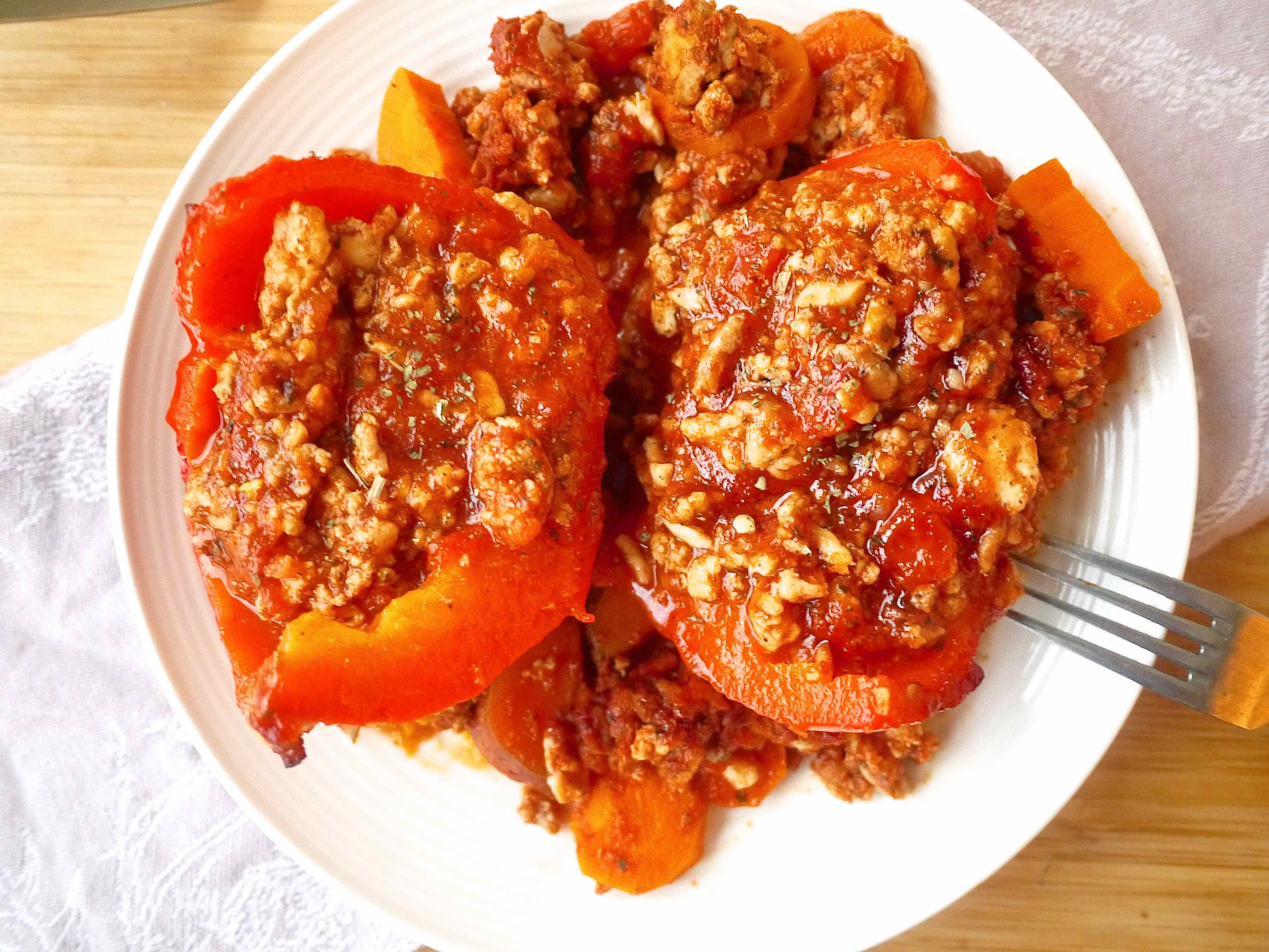 how to cook stuffed peppers