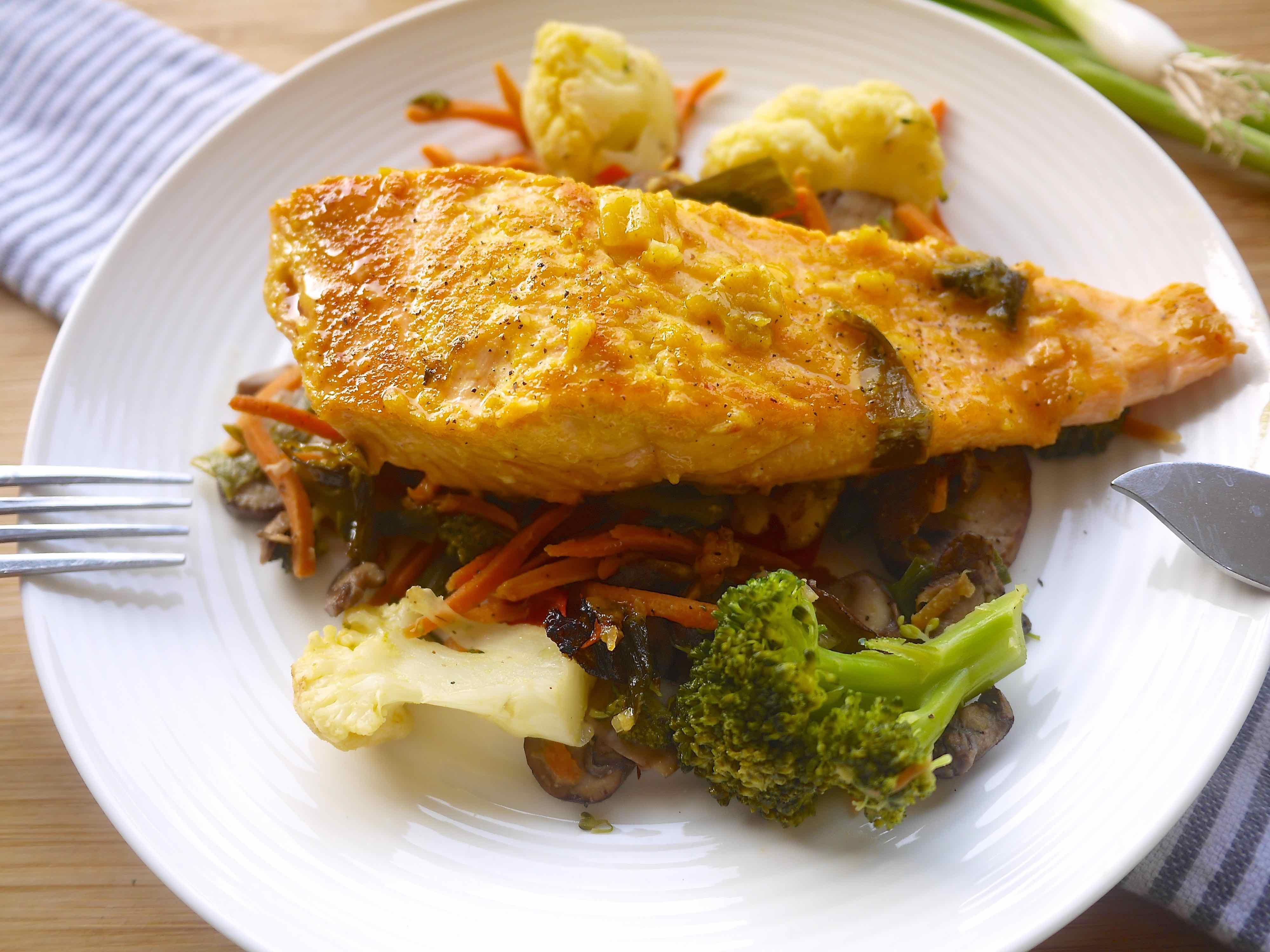 Green Onion And Orange Asian Salmon (paleo, Gf)