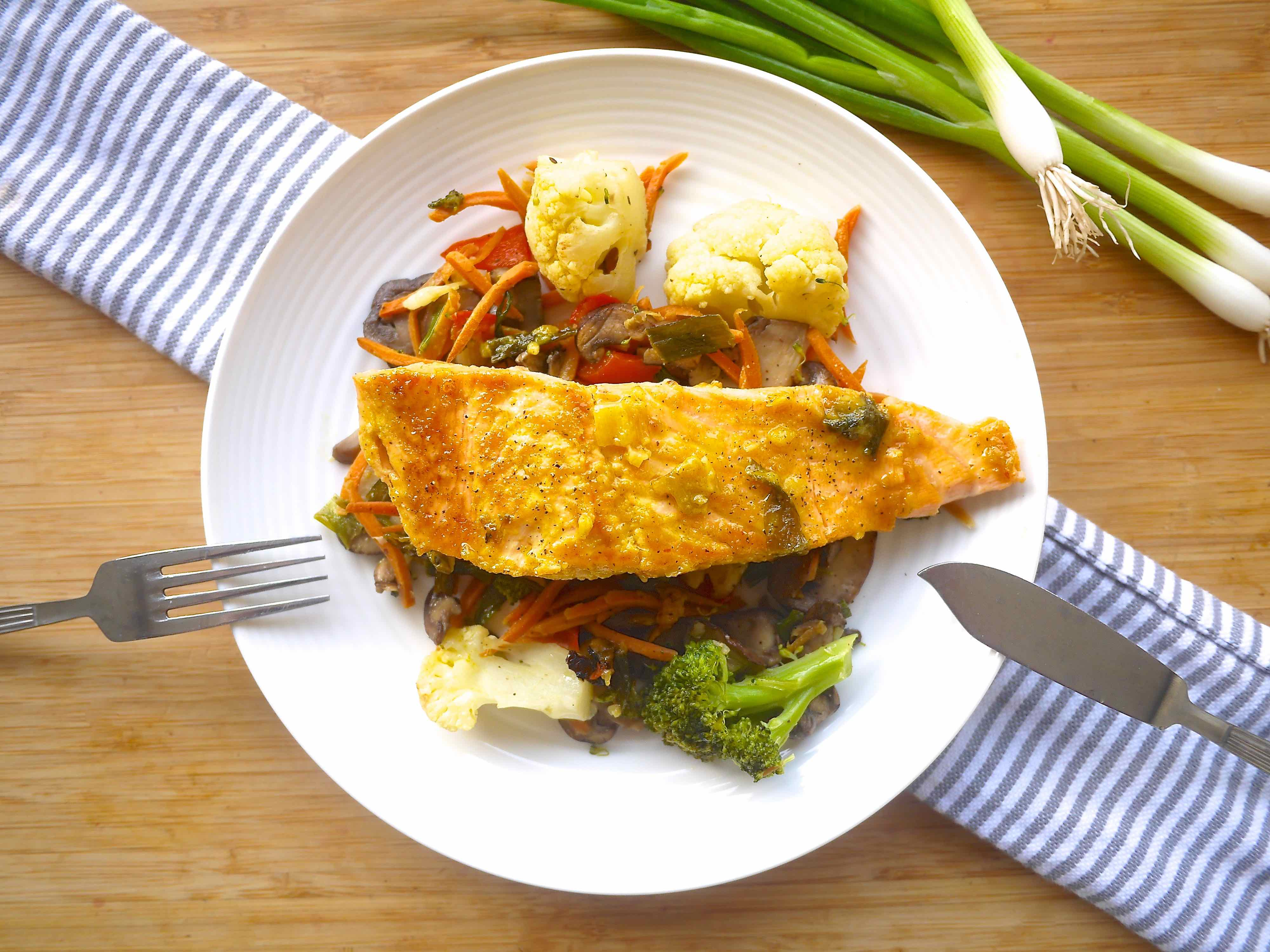Green Onion And Orange Asian Salmon (paleo, Gf)  Perchance To Cook,