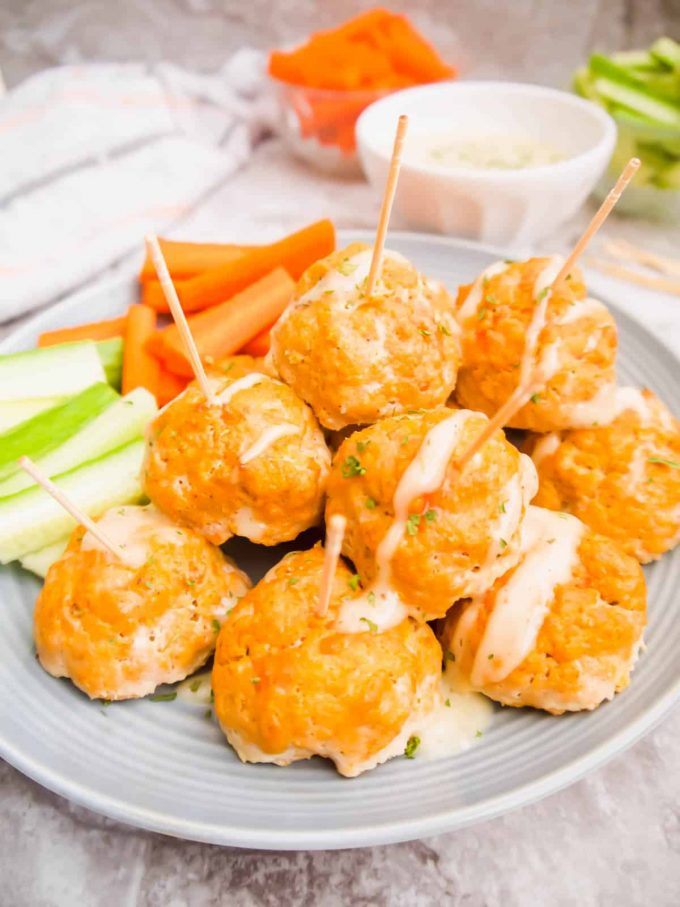 Healthy Buffalo Turkey Meatballs (Paleo, Whole30, GF) | Perchance to Cook, www.perchancetocook.com