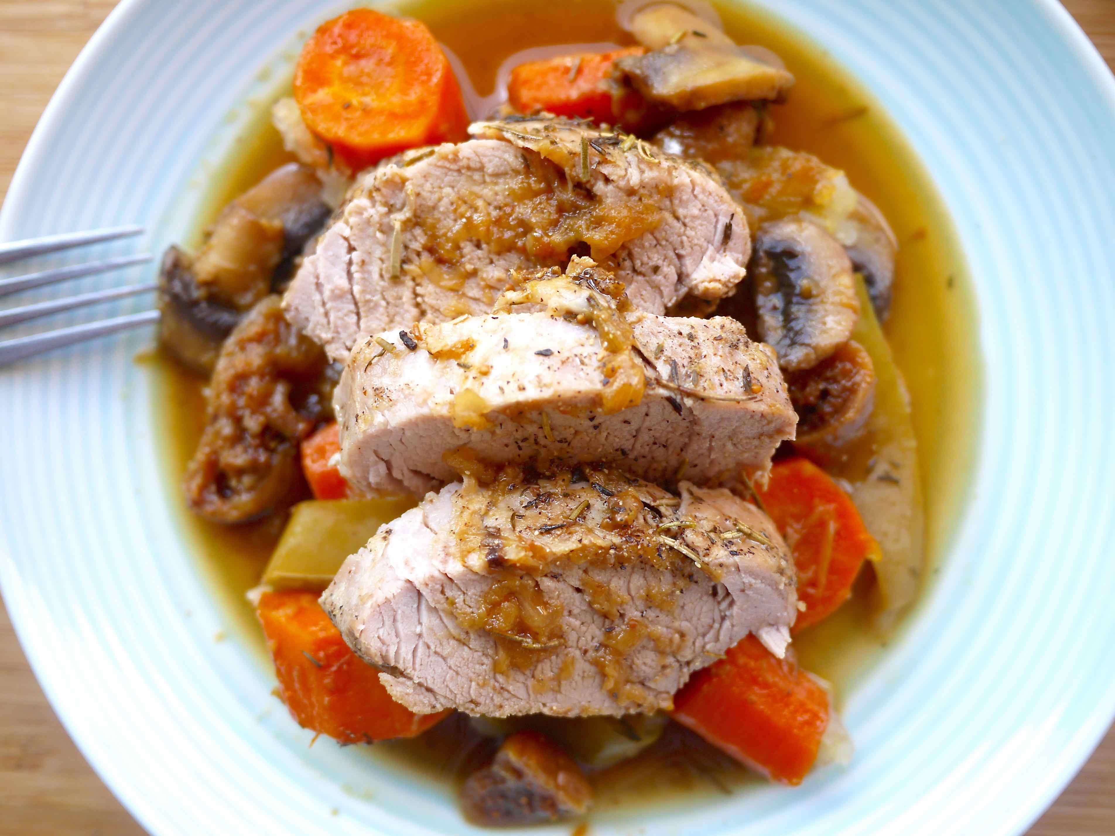 Fig And Rosemary Pork Pot Roast Recipe — Dishmaps