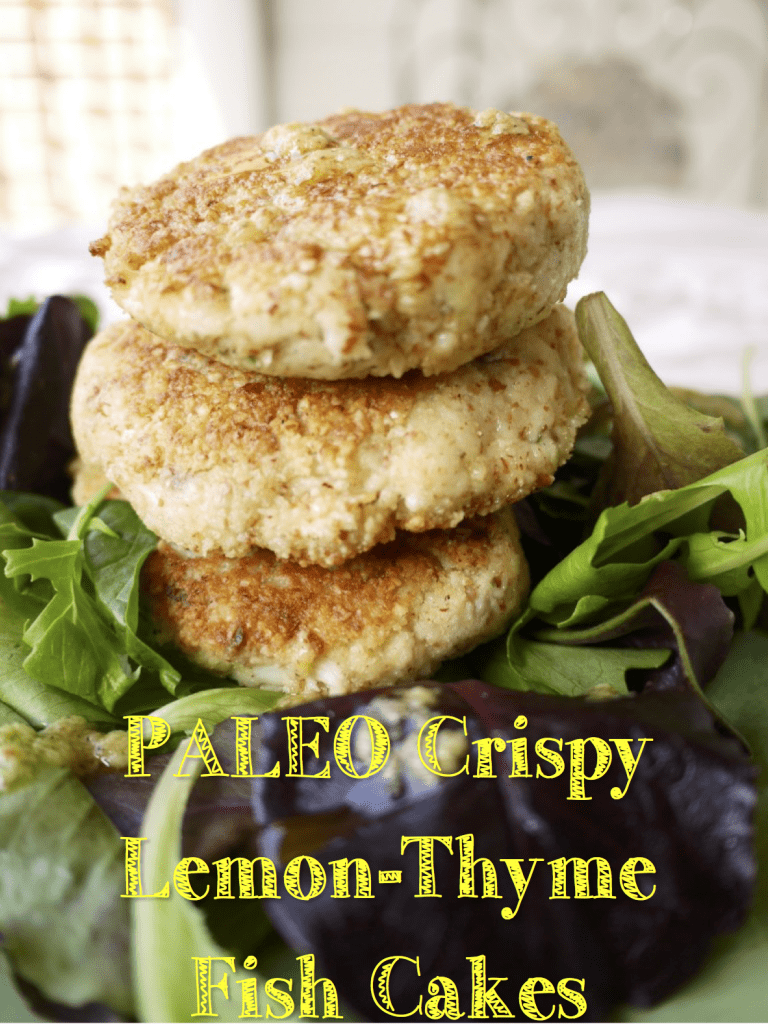 Paleo Crispy Lemon-Thyme Fish Cakes (GF)- a restaurant-quality way to eat healthy fish. | Perchance to Cook, www.perchancetocook.com