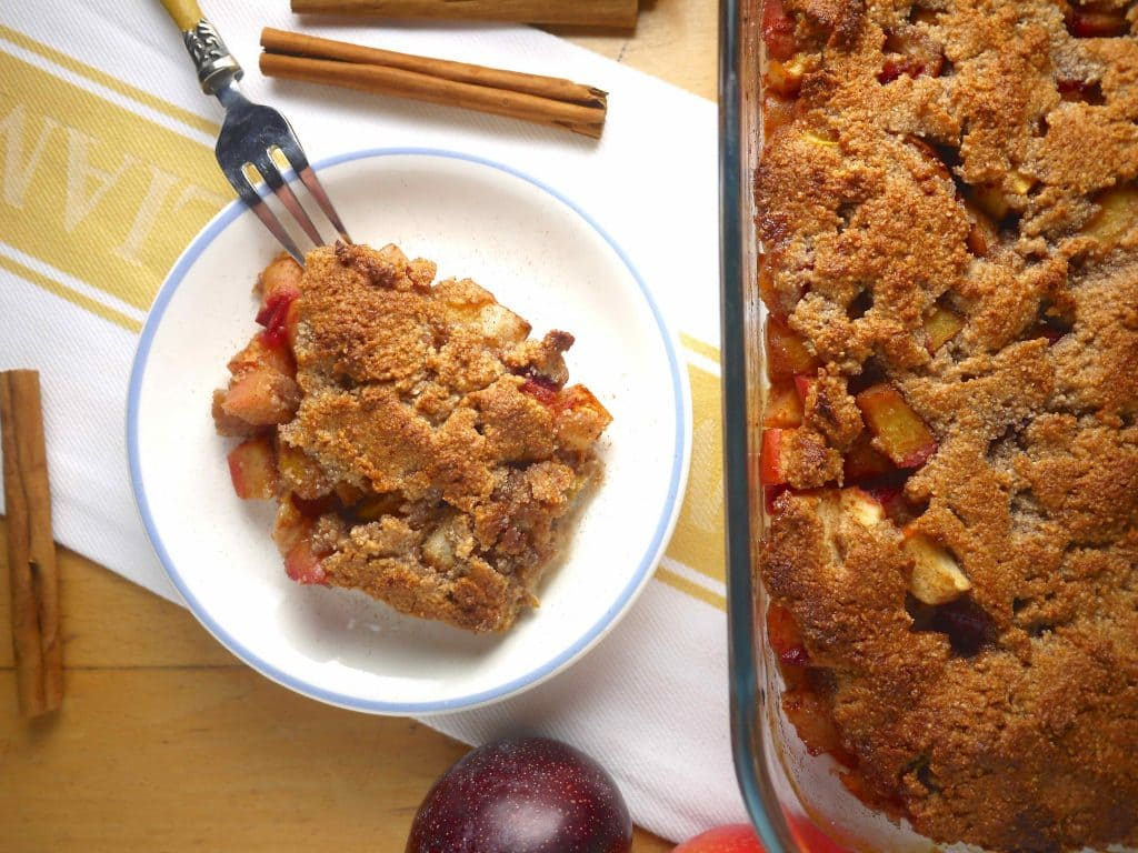 ... fruit dessert full of pears, plums, and apples is just what you need