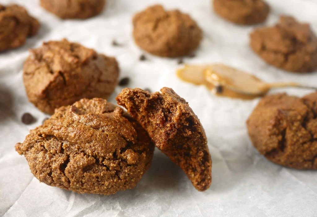 THESE bad boys-->Chewy Chocolate Almond Butter Cookies (paleo, GF) | Perchance to Cook, www.perchancetocook.com