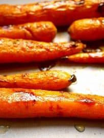 Maple Glazed Turmeric Carrots (Paleo, GF) | Perchance to Cook, www.perchancetocook.com